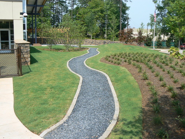 late Scape Pathway with Border Photo